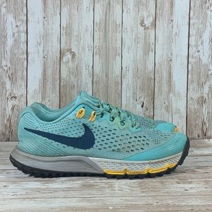 Nike Air Zoom Kiger 4 Trail Running Shoes Blue Yellow Women's Size 7